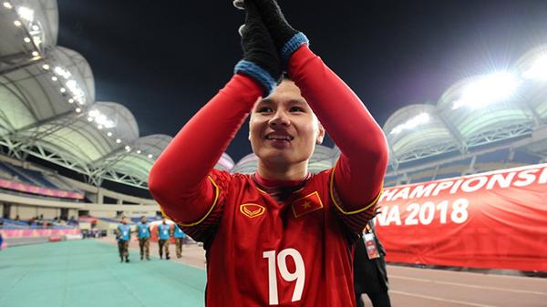 Quang Hải thi đấu chói sáng ở vòng chung kết U23 châu Á.