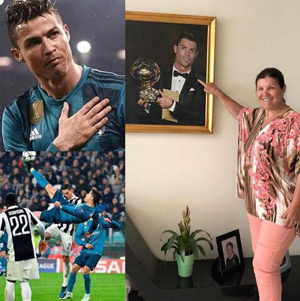 Mẹ và bạn gái phấn khích vì siêu phẩm của C. Ronaldo - 2