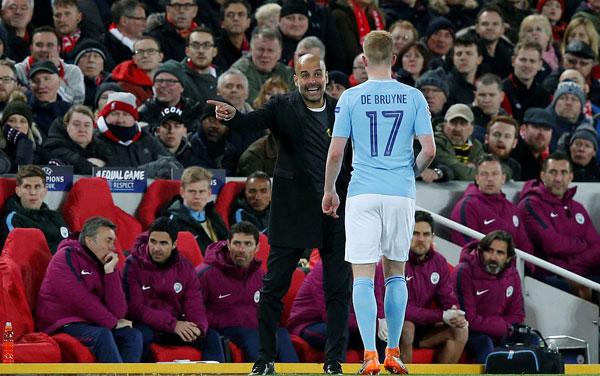 Kevin de Bruyne và các đồng đội có trận đấu đáng quên trước đối thủ đồng hương tại sân chơi Champions League.