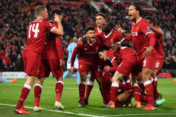 Niềm vui của dàn sao áo đỏ khi giành lợi thế lớn trước trận lượt về ở Etihad tuần tới.