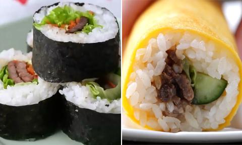 Chỉ với một tô cơm, bạn có thể chế biến 3 món cuộn nhanh, ngon và rẻ