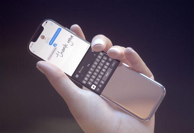 Nắp kim loại trên thiết bị ý tưởng gợi nhớ đến thiết kế trượt trên dòng điện thoại Nokia 8800.