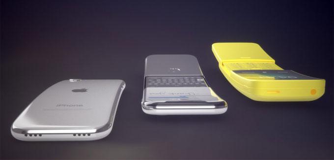 iPhone màn hình cong vỏ thép sáng bóng
