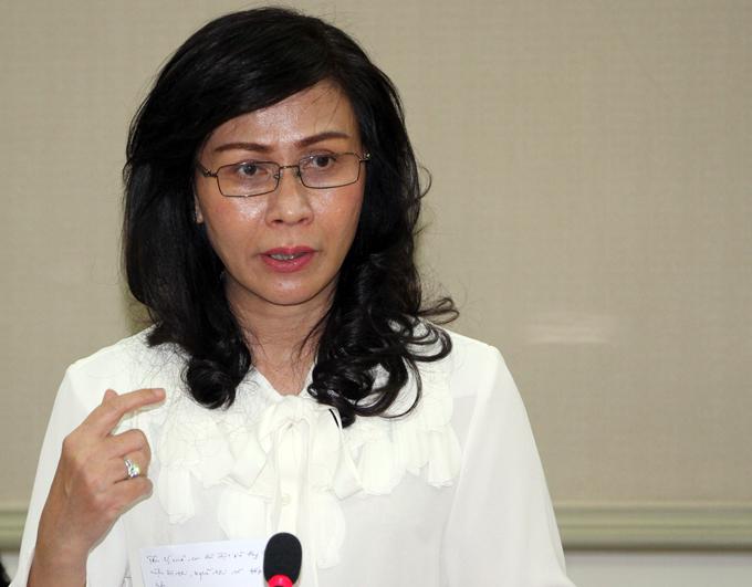 Phó chủ tịch UBND TP HCM Nguyễn Thị Thu. Ảnh: Mạnh Tùng.