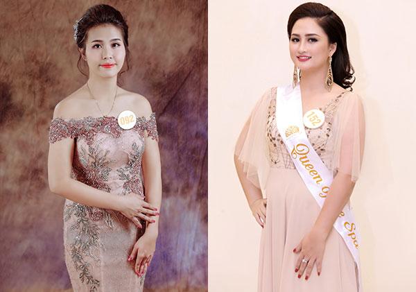 Thí sinh Lưu Thị Thùy Dung (số báo danh 92)và Trần Hải Linh (số báo danh 152).