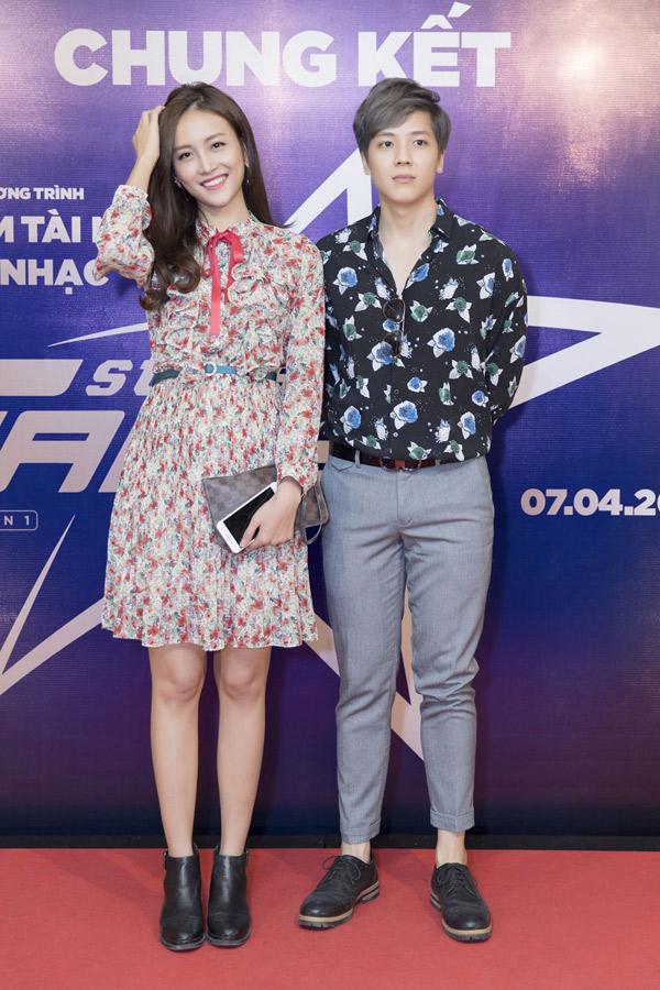 Trương Mỹ Nhân và Kent Phạm gắn bó từ khi đóng chung phim Thử yêu rồi biết.