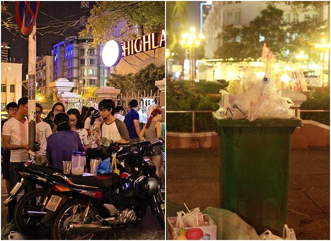 Trà sữa giá rẻ đông như kiến ngay nhà hát Lớn Sài Gòn - 1