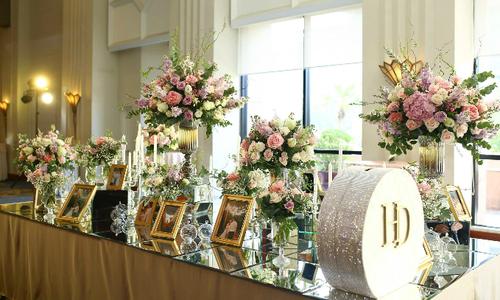Tiệc cưới 'Sắc xuân' trong khách sạn 5 sao ở Hà Nội