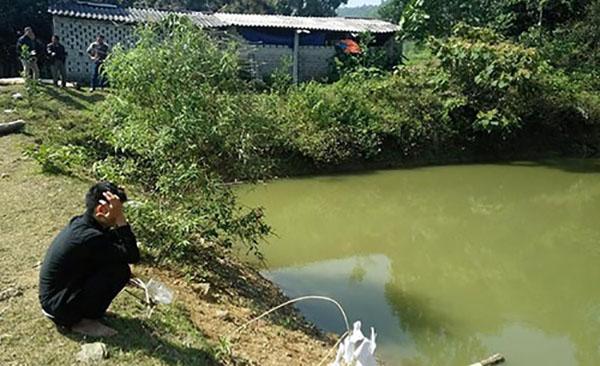 Ao cá nơi xảy ra vụ đuối nước.