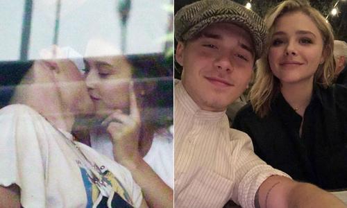 Brooklyn hôn chân dài hơn tuổi, rộ tin chia tay Chloe Moretz