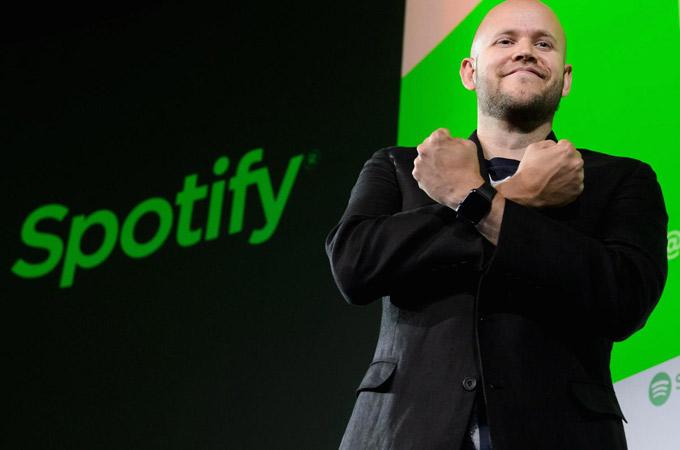 Daniel Ek, CEO của ứng dụng nghe nhạc trực tuyến Spotify - Ảnh: CNBC