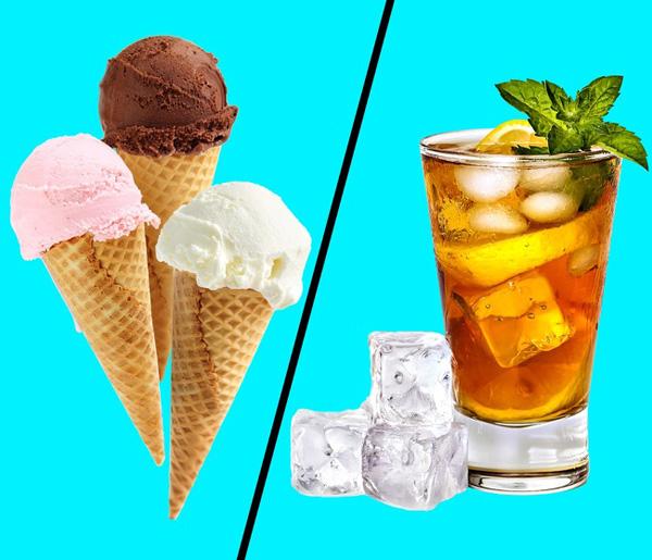 Đồ lạnh Uống nước lạnh được cho là giúp tiêu hao nhiều calories hơn nhưng nếu uống ngay sau khi tập thể dục, cơ thể đang toát mồ hôi thì bạn có thể gặp tình trạng đau đầu