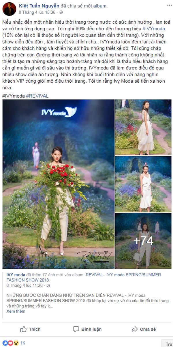 Kye Nguyễn khẳng định nhãn hiệu thời trang có sức ảnh hưởng, lan tỏa và có tính ứng dụng cao.