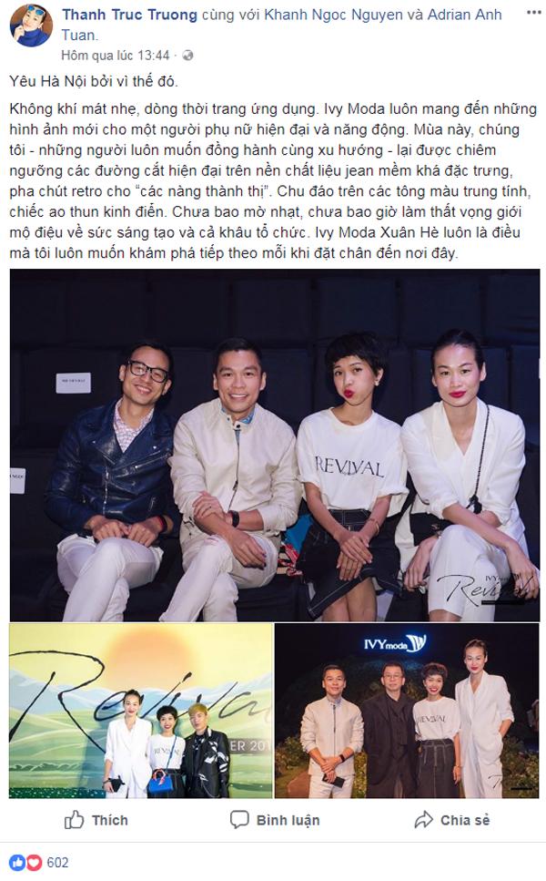 Bộ đôi biên tập viên, blogger thời trang Khánh Ngọc và Trương Thanh Trúc chia sẻ là khách quen của IVY moda Fashion show.