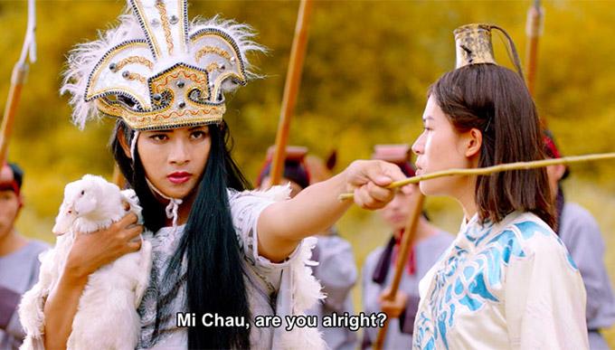 Trong mơ tưởng của chàng sinh viên Minh Khôi, chuyện tình cổ tíchdiễn ra khá hài hước khi chính anhvào vai nàng Mị Châu, còn Diệu Hiền là chàng Trọng Thủy. Với tạo hình cổ trang giả gái, Hoài Lâm được khen xinh đẹp, thậm chívẻ ngoài lấn át cả bạn diễn Ngọc Thanh Tâm.