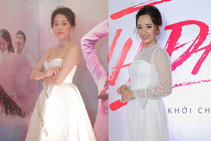 Ngọc Trinh mặc gợi cảm đi xem phim mới của 'đàn em' Quỳnh Hương