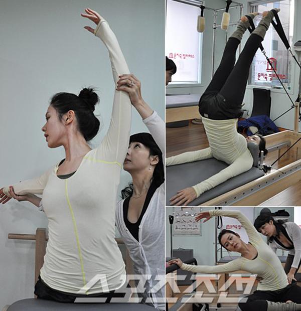 Pilates là bài tập yêu thích của cô. Khi có thời gian rảnh, Son Ye Jin sẽ chạy bộ ở công viên Sông Hàn.