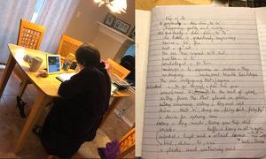 Cụ bà học tiếng Anh để nói chuyện với cháu gái ở Mỹ