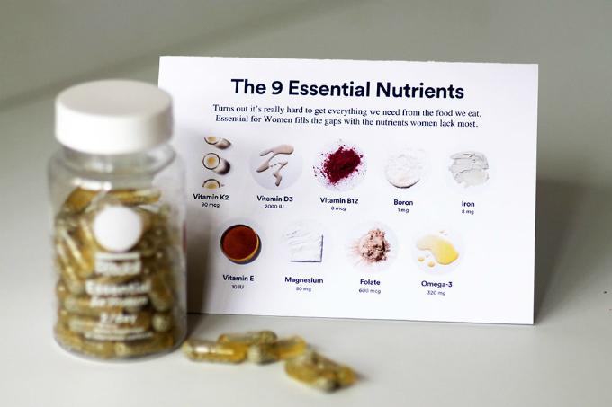Ritual tập hợp 9 loại vitamin cần thiết nhất cho phụ nữ.
