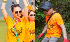 Vợ chồng Victor Vũ, Đinh Ngọc Diệp trèo đèo, lội suối ở Quảng Bình