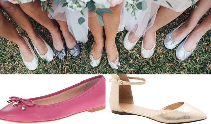 Cô dâu có thể lựa chọn nhiều mẫu giầy bệt xinh xắn cho ngày cưới của mình.