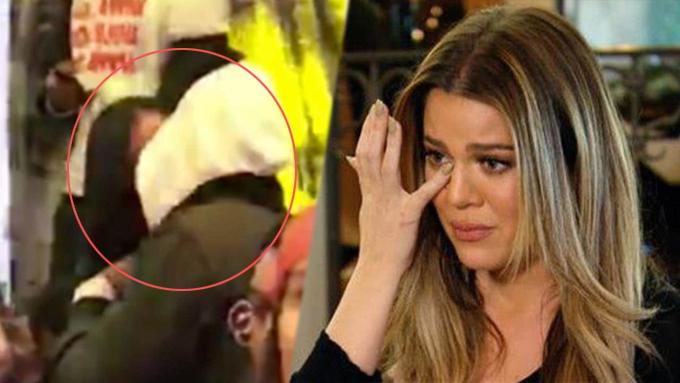 Bạn trai Khloe Kardashian bị bắt gặp ôm hôn cô gái khác trong quán bar hôm 7/4.