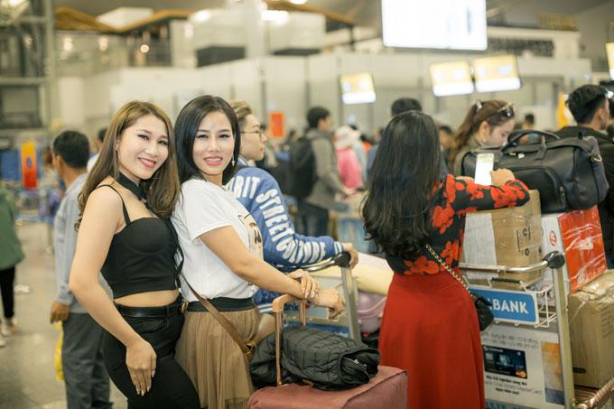 Hôm qua (9/4), các thí sinh Queen of the spa đáp chuyến bay từ Việt Nam sang Incheon Hàn Quốc.