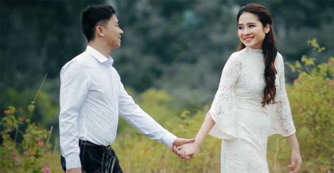 Ảnh cưới của Quỳnh Anh và Ngọc Sơn.