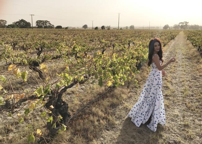 Bông hồng lửa Ôn Bích Hà khoe trang trại rượu nho rộng lớn ở Australia - 5