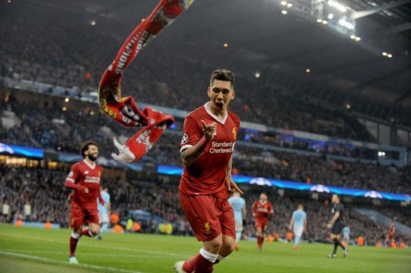 Firmino và Salah là hai cầu thủ lập công cho Liverpool trong trận thắng 2-1 trước Man City ở lượt về Champions League. Một tuần trước đó, The Kop cũng đánh bại đội bóng đồng hương 3-0 ở lượt đi trên sân nhà Anfield.