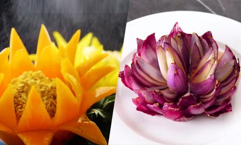 Mẹo tỉa hoa từ rau củ quả 'chỉ trong một nốt nhạc'