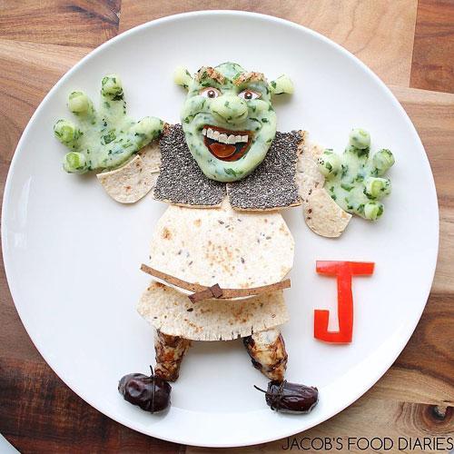 Mohmedi tâm sự, không phải các món ăn của Jacob mỗi tối đều được chuyển thành tác phẩm điêu khắc.Tôi sẽ thật điên rồ khi bữa nào cũng làm nhân vật hoạt hình cho con. Con trai tôi ăn bánh kẹp và các món bình thường, Modmedi nói.