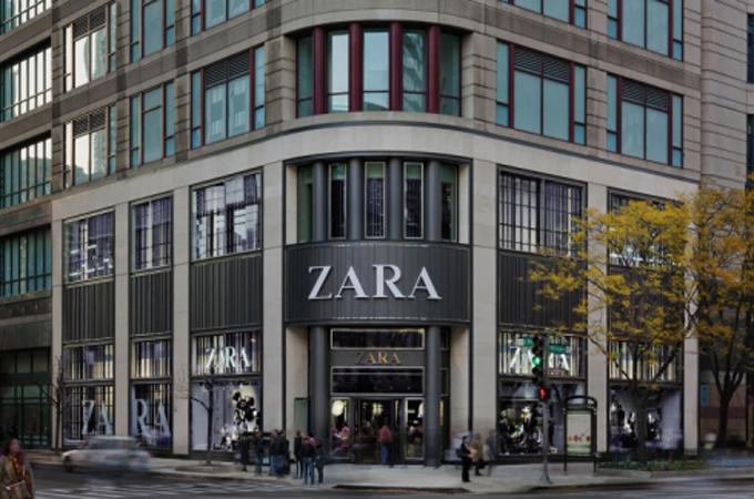 Các cửa hàng thời trang Zara luốn nằm ở vị trí trung tâm và được thiết kế sang trọng - Ảnh:CNN