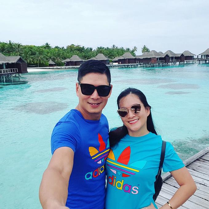 Sau vài tiếng transit ở Singapore, vợ chồng Bình Minh đã có mặt ở đảo quốc thần tiên Maldives.