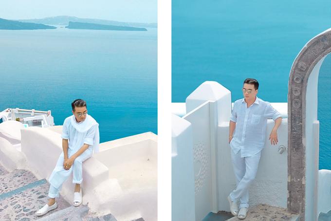 Mr. Đàm khám phá từng ngõ ngách Santorini để chụp ảnh bìa album mới - 5