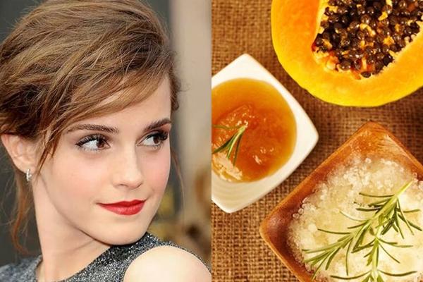 Emma Watson thích sử dụng đu đủ trộn với mật ong để làm đẹp da. Đây chính là bí quyết giúp nữ diễn viên có được làn da trắng mịn, hồng hào.