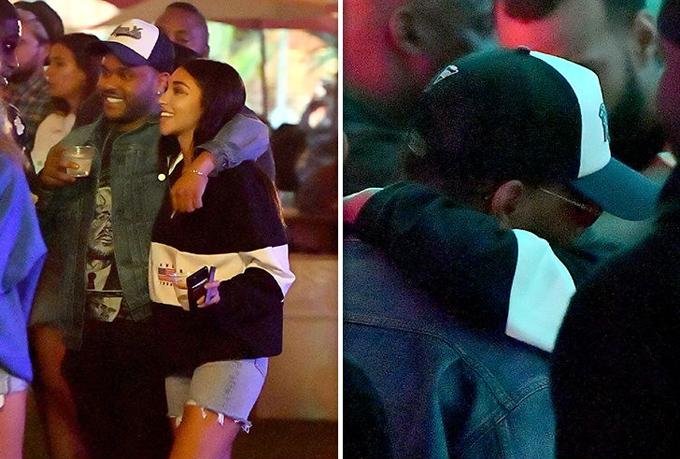 Trong khi đó, The Weeknd đi chơi với người mẫu Chantel Jeffries. Người đẹp này từng có thời cặp với Justin Bieber.