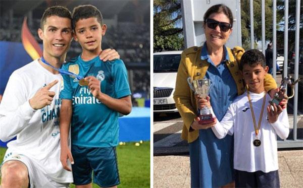 C. Ronaldo chúc mừng con trai là vua phá lưới