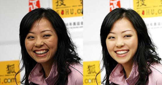 Ca sĩ nổi tiếng Trương Tịnh Dĩnh khác hoàn toàn nhờ vào công nghệ sửa ảnh.