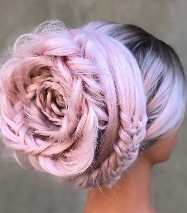 Tuyệt tác tóc tết hình hoa hồng đốn tim phái đẹp - 2