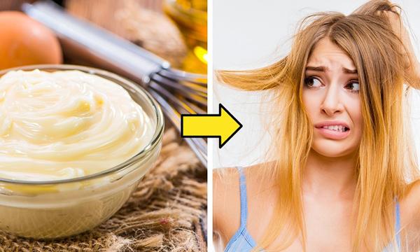 Dùng mayonnaise thay cho dầu xả