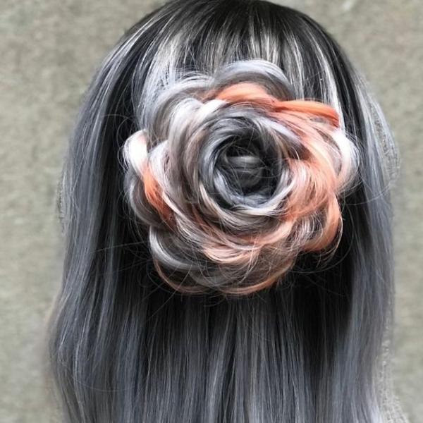 Tuyệt tác tóc tết hình hoa hồng đốn tim phái đẹp - 9