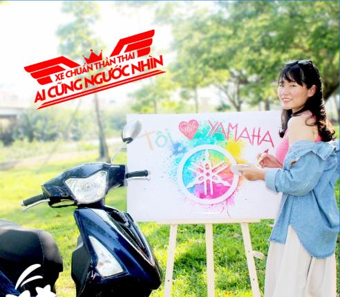 Rất nhiều bài thi đã được gửi về thể hiện tình yêu với chiếc xe ga Yamaha thân thuộc