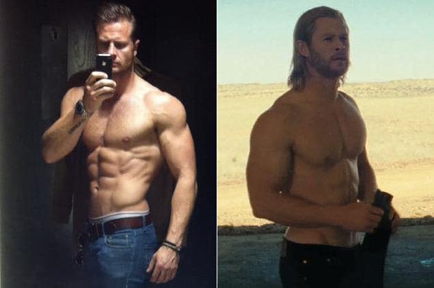 Bobby ra sức luyện tập để có cơ bắp vạm vỡ như Chris Hemsworth.