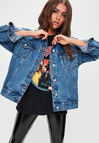 Thiết kế dù sành điệu nhưng chất liệu jeans được cho là không phù hợp với đám cưới.Ảnh: Missguided.