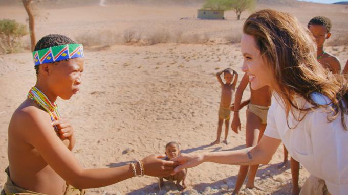 Angelina đang tham gia cùng chính phủ Namibia để trồng loại cây mới thay thế những cây đã chết trên sa mạc.