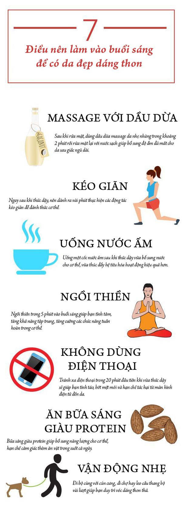 7 điều nên làm vào buổi sáng để có da đẹp, dáng thon