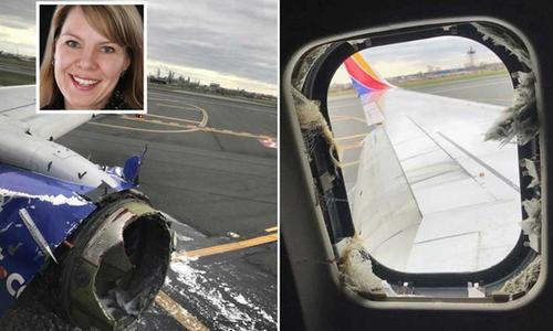 Động cơ máy bay Mỹ nổ tung, một phụ nữ bị hút ra ngoài