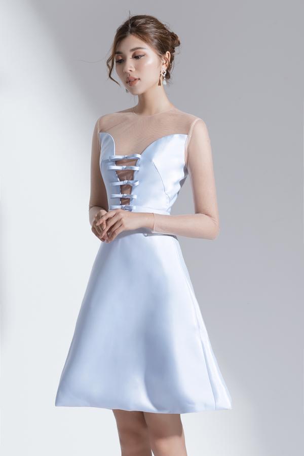 Xây dựng vẻ đẹp tiểu thư với váy đi tiệc dáng ngắn - 7
