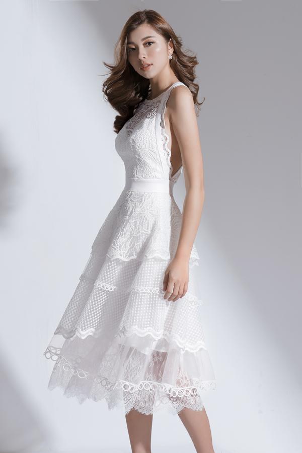 Xây dựng vẻ đẹp tiểu thư với váy đi tiệc dáng ngắn - 10